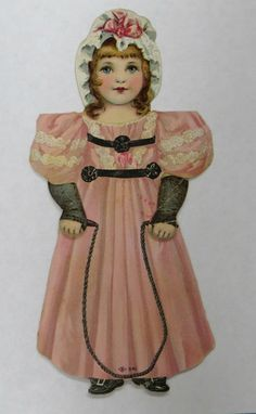 Electric Lustre Starch 1850s 1900s Die Cut Victorian Paper Doll Trade Card | eBay