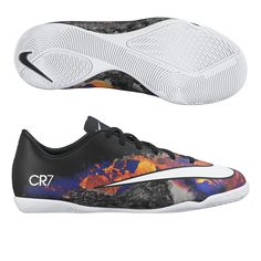 Kids can dominate indoor soccer with the Junior Nike CR7 Mercurial Victory indoor soccer shoes. Get all your Cristiano Ronaldo soccer cleats, shoes, and gear today at SoccerCorner.com!  http://www.soccercorner.com/Nike-Mercurial-Victory-V-CR7-Youth-Indoor-Soccer-S-p/siyni684851-018.htm