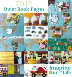 A Year of Quiet Book Pages 2013 (ideas are AMAZING & free patterns for personal use!!)