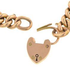 Victorian Heart Padlock Link Bracelet, from Doyle & Doyle