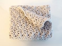 Crochet Blanket Baby - Handmade Baby Throw - Gray Blanket - Grey Afghan - Knit Wool - Baby Girl - Baby Boy - New Born - Baby Shower Gift