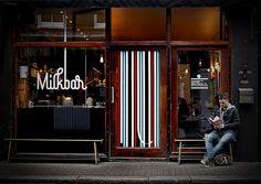 milkbar. Bateman St, Soho. Perfect Flat White