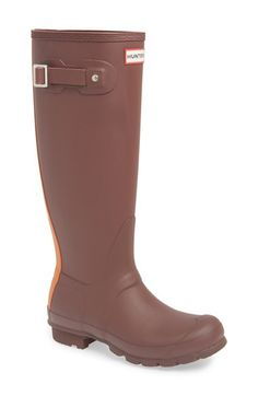 Hunter 'Original Stripe' Waterproof Rubber Boot (Women) available at #Nordstrom