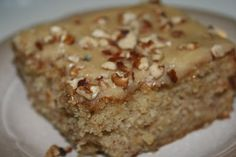 Easy Banana Cake with Quick Caramel Icing