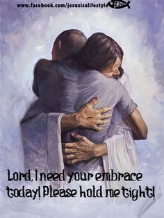 This image chokes me up! What a great picture and awesome thought to hug Jesus@!!! (facebook.com/jesusisalifestyle)