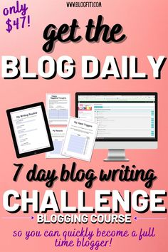 Ok girl, it's time to get serious about your blog. Tough love time: if you're not writing blog posts, your blog is going nowhere real quick. But don't worry! I am here to help you. I've been there, I know how frustrating it can be and I'm here to tell you that if I can do it - you can too! This 7 day blog writing challenge will take you from frustrated, stuck blogger to badass blog writer who publishes on a regular basis with EASE! #blogfiti writing blog tips | blog writing tips | blogging tips Blog Writing Tips, Blog Tips, Writing Prompts, Love Time, Writing Courses, Writing Challenge, Tough Love, Real Quick, I Can Do It