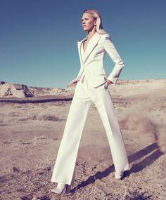 What's White Now: #GiorgioArmani jacket, vest, and pants.