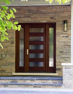 Wooden Exterior Doors With Glass - The doors may give out a number of functionalities for folks throughout the globe and a Wooden Front Doors, Front Door Entrance, Entry Doors, Front Entry, Wood Doors, Privacy Glass Front Door, Front Door With Glass, Front Doors With Windows, Door Entryway