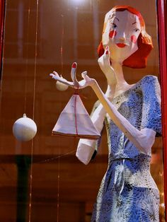papier mache girl...  look at arms and hands