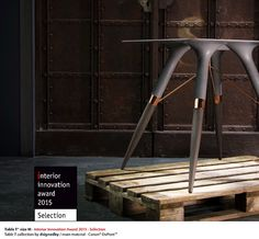 Table T collection is awarded by the German Design Council with the Interior Innovation Award 2015- selection #awarded #design #furniture #iia2015 #immcologne #tablet #table #corian #dupont #collection