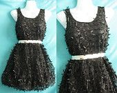Little Black Dress Lace Dress Party Prom Dress - Sweet Girl Cocktail Dress Hippie Short Dress. $38.00, via Etsy.