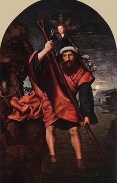 File:Quinten Massijs (I) - St Christopher - - Wikimedia Commons Renaissance, Tarot, Web Gallery Of Art, Saint Christopher, Hieronymus Bosch, Religious Images, European Paintings, Historical Images, Catholic Saints