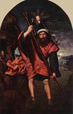 St Christopher - Hieronymus Bosch