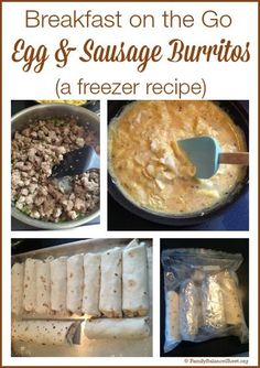 Is the morning rush stressful? To save breakfast, I spent a little time in the kitchen making breakfast burritos for our freezer. On those hectic mornings, from freezer to plate, they take a minute or two to warm in the microwave and breakfast is served.