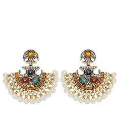 "Heidi Daus ""Exotic Harmony"" Crystal Drop Earrings"