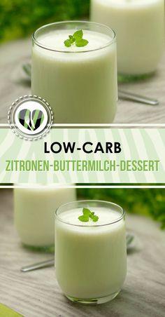 Das Zitronen-Buttermilch-Dessert ist low-carb und glutenfrei und erfischend lecker.