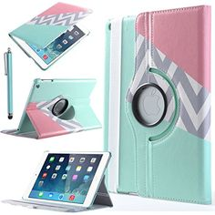 or...ULAK Apple iPad Air Case - 360 Degrees Rotating Stand PU Leather Smart Case Cover with Auto Sleep / Wake Feature for iPad Air / iPad 5 (5th Generation)+Screen Protector and Stylus, Blue Pink Grey ULAK http://www.amazon.com/dp/B00RCEKX40/ref=cm_sw_r_pi_dp_.2SWub1SPT87Y 13.99