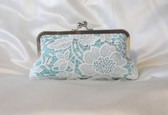 THE FLORAL LACE bridesmaid clutch bridal by franklymydearvintage, $52.00