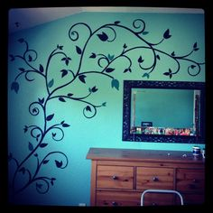 hand painted wall design - Design Of Wall Painting