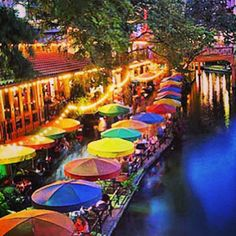 The San Antonio River Walk is a public park, great for strolling with your little one. Point out the vibrant colors and the various attractions lining the river on your #playdate.