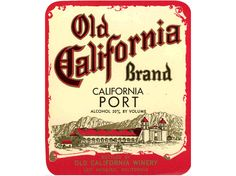 California wine label