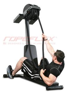 Here is a rope pulling machine that helps you burn calories and build strength in your body. The Ropeflex IBEX offers vertical and horizontal configurations to give you a total-body workout. The machine has a compact design and comes with premium, b Home Gym Equipment, No Equipment Workout, Workout Gear, Fun Workouts, Workout Fitness, Bodybuilder, Personal Gym, Fitness Gadgets, Fitness Gear