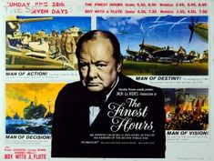The Finest Hours Winston Churchill, 1964 - original vintage film poster for The…