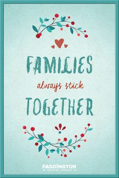 So damn true! I have LOTS of family, which means so does my husband and son. Stick together no matter what!