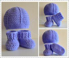 Explication complète bonnet et chausson au crochet