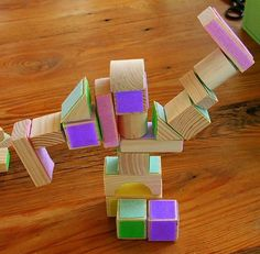 What fun - velcro blocks - also, make base with velcro for individual block sticking or tall tower building