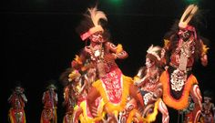 Papuan Dance from the tribal communities in Yapen, Papua Province.
