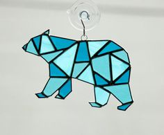 Polar Bear Stained Glass Suncatcher by AwesomeSauceDesigns on Etsy