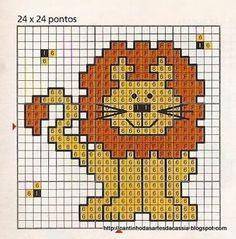 Gráficos de leão é difícil encontrar, ainda assim tão delicados...