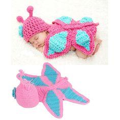 Newborn Baby Girl Boy Crochet Butterfly Flower by dreammadestudio, $18.00
