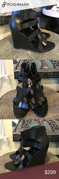 Auth Balenciaga Wedge Sandals Shoes Heels Auth Balenciaga Wedge Sandals Shoes Heels. Extremely comfortable Wedge. Size 41 but these run small.. size 9 - 10 would fit these great😘 Balenciaga Shoes Wedges