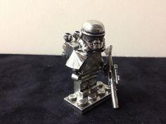 Pewter Metal Lego Star Wars Sandtrooper Minifig. $75.00, via Etsy.