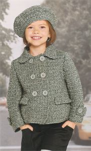 Bergere de France Childrens Knitting Patterns Jacket & Beret Crochet Pattern