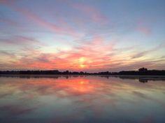 Sunset in The Biesbosch, Holland