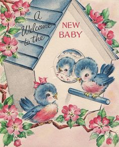 vintage baby card by susy Vintage Birthday Cards, Vintage Greeting Cards, Vintage Ephemera, Vintage Postcards, Vintage Baby Pictures, Vintage Images, Baby Illustration, Illustrations, Decoupage