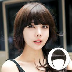 pinkage – Hair Fringes – Straight - New Site Korea Fashion, Asian Fashion, Wig Styles, Contemporary Jewellery, Human Hair Wigs, Hair Pieces, Wig Hairstyles, Beauty Women, Bangs
