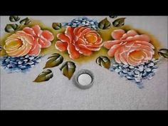 Pintura em Tecido Rosa