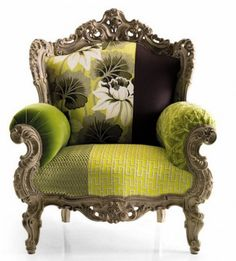 images of vintage chairs | Vintage Sofa and Chair by Moda | Home Furniture Today  (Would LOVE this chair with a black or gold frame and cheetah print fabric)