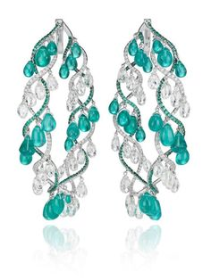 Love the flow and style of these lovelies... emeralds and diamonds