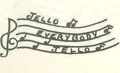 "Jello illustration from ""Eating Pleasure by Sisterhood Measure"" (Shaare Tefila, Washington D.C., 1958)"