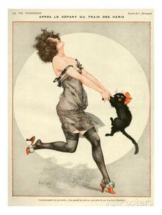 La Vie Parisienne, C Herouard, 1923, France Kunstdruck