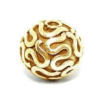 Bali Beads | Sterling Silver Vermeil-24k Gold Plated - Vermeil Round Beads, 24K Gold Vermeil on Sterling Silver B5003V