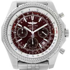 685be1daaa85 Breitling Bentley Motors Burgundy Dial Chronograph Mens Watch A25362