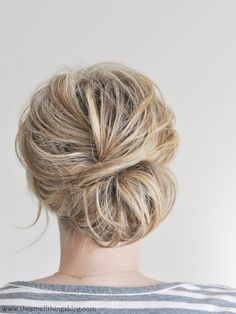 wrap around messy bun