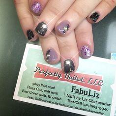 #PerfectlyNailed #perfectlynailedri #fabuliz #fabuliznails #nailsoftheday #nailsofinstagram #nailstagram #nailswag #nailart #nailaddict #notd #photooftheday #nailstagram #rinails #401nails #getperfectlynailed #nailedit #manimommy #momswhomani #letmedoyournails purple nails glitter bling nail art