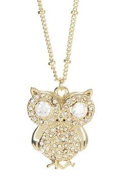 HauteLook | Delicate & Dainty: Jewelry Blowout: N'Luxe Owl Necklace